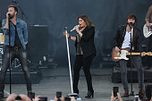 Charles Kelley Hillary Scott Dave Haywood of Lady Antebellum performs onstage during the Capital One JamFest at the NCAA March Madness Music Festival...