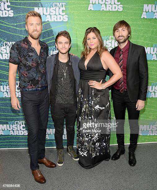 Charles Kelley Zedd Hillary Scott and Dave Haywood attend the 2015 CMT Music awards at the Bridgestone Arena on June 10 2015 in Nashville Tennessee