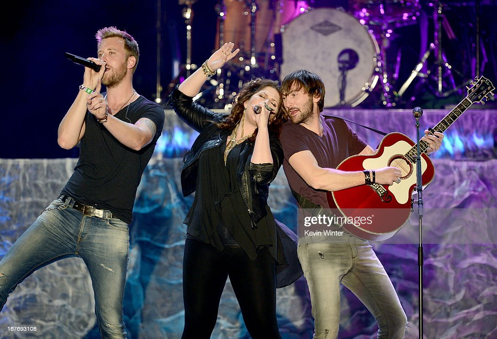 <a gi-track='captionPersonalityLinkClicked' href=/galleries/search?phrase=Charles+Kelley&family=editorial&specificpeople=3935435 ng-click='$event.stopPropagation()'>Charles Kelley</a>,Hillary Scott and <a gi-track='captionPersonalityLinkClicked' href=/galleries/search?phrase=Dave+Haywood&family=editorial&specificpeople=4620526 ng-click='$event.stopPropagation()'>Dave Haywood</a> of Lady Antebellum perform onstage during 2013 Stagecoach: California's Country Music Festival held at The Empire Polo Club on April 27, 2013 in Indio, California.