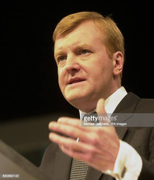 Charles Kennedy MP leader of the Liberal Democrats addressing his party's conference in Brighton Kennedy today sought to stake his party's claim to...