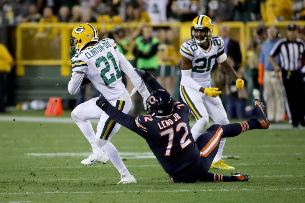 best service b71d1 b6dea Coach calls Leno most underrated OL Chicago Bears v Green Bay Packers ...
