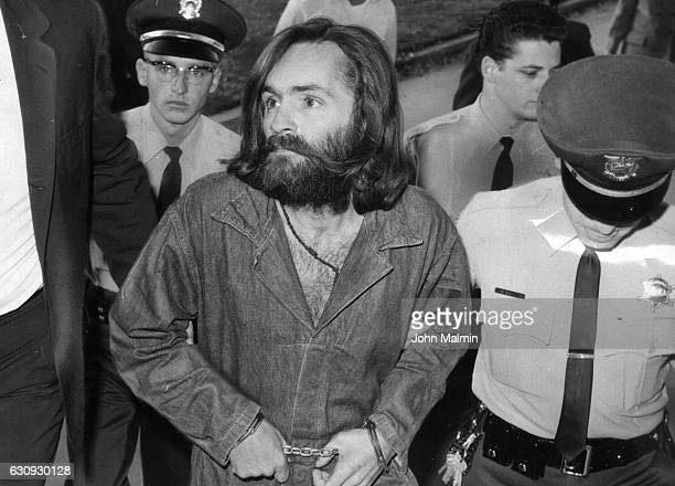 Charles Manson is escorted to court for preliminary hearing on December 3 1969 in Los Angeles California