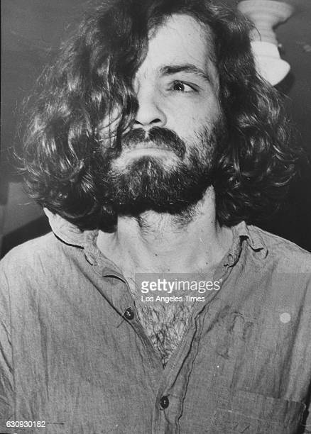 Charles Manson on his way to court in 1970