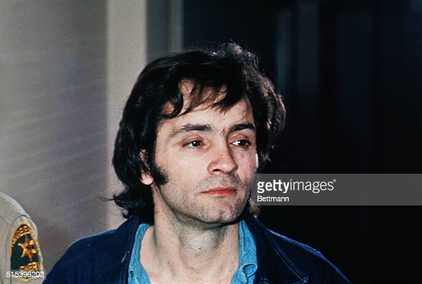 Charles Manson who led a cult that committed murders in Los Angeles in the sixties is clean shaven in closeup photo