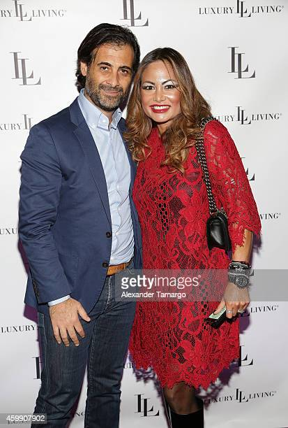Charles Mejjati and Orianne Collins Mejjati attend Luxury Living Showroom Art Basel Miami Beach Event on December 3 2014 in Miami Florida