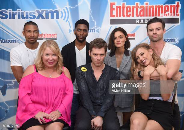 Charles Michael Davis Julie Plec Yusuf Gatewood Joseph Morgan Phoebe Tonkin Riley Voelkel and Daniel Gillies attend SiriusXM's Entertainment Weekly...