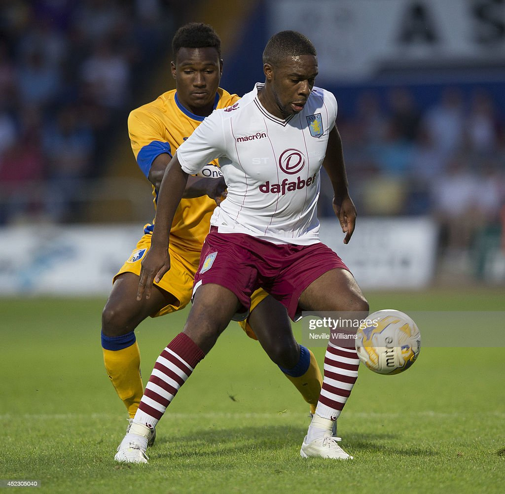 Charles N'Zogbia of Aston Villa during the pre season friendly match between Mansfield Town and Aston Villa at the One Call Stadium on July 17, 2014 in Mansfield, England.