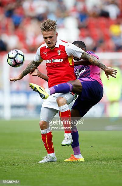 Charles N'Zogbia of Sunderland and Danny Ward of Rotherham United during the PreSeason Friendly match between Rotherham United and Sunderland at the...