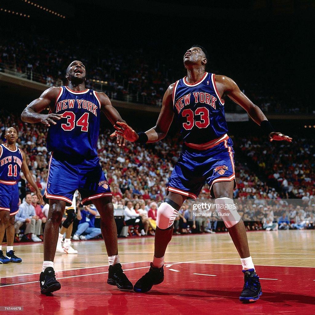 Ho houston rockets nba championship - Houston Rockets Charles Oakley 34 And Patrick Ewing 33 Of The New York Knicks Wait For