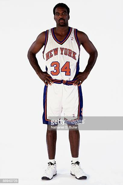 Charles Oakley of the New York Knicks poses for a portrait during a media day portrait session circa 1998 in New York New York NOTE TO USER User...
