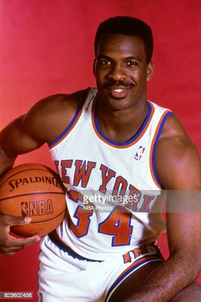Charles Oakley of the New York Knicks poses for a portrait during a shoot in New York New York circa 1988 NOTE TO USER User expressly acknowledges...