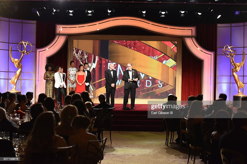 Charles Osgood accepts the Emmy onstage for Outstanding Morning Program at the 43rd Annual Daytime Emmy Awards at the Westin Bonaventure Hotel on May 1, 2016 in Los Angeles, California.