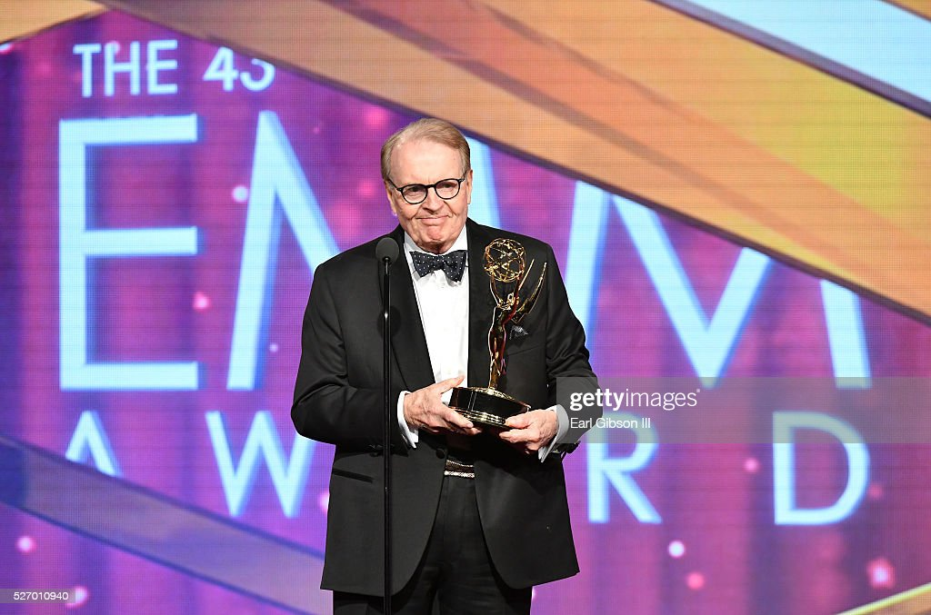 Charles Osgood speaks onstage after receiving the Emmy for Outstanding Morning Program at the 43rd Annual Daytime Emmy Awards at the Westin Bonaventure Hotel on May 1, 2016 in Los Angeles, California.