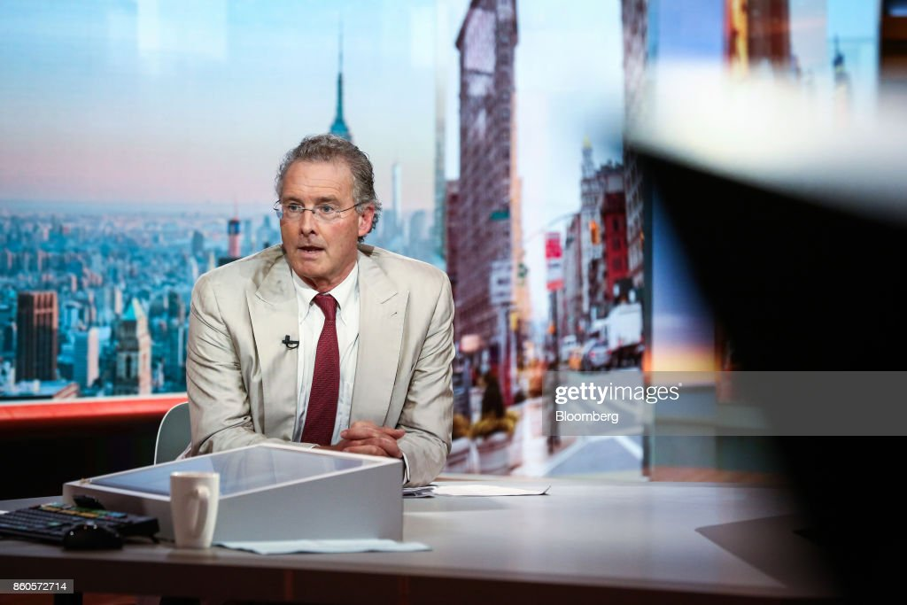 Charles Peabody, managing director of Compass Point Research & Trading LLC, speaks during a Bloomberg Television interview in New York, U.S., on Thursday, Oct. 12, 2017. Peabody discussed the start of bank earnings season as he sees an earnings recession for the big banks in 2018 and 2019. Photographer: Christopher Goodney/Bloomberg via Getty Images