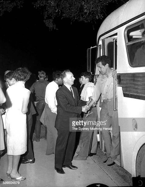 Charles Perkins meets a supporter of the Aboriginal Freedom Ride NSW February 1965 Aboriginal student and activist Charles Perkins was inspired by...