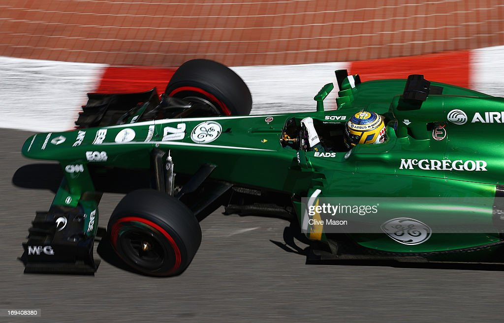 <a gi-track='captionPersonalityLinkClicked' href=/galleries/search?phrase=Charles+Pic&family=editorial&specificpeople=8708875 ng-click='$event.stopPropagation()'>Charles Pic</a> of France and Caterham drives during practice for the Monaco Formula One Grand Prix at the Circuit de Monaco on May 23, 2013 in Monte-Carlo, Monaco.