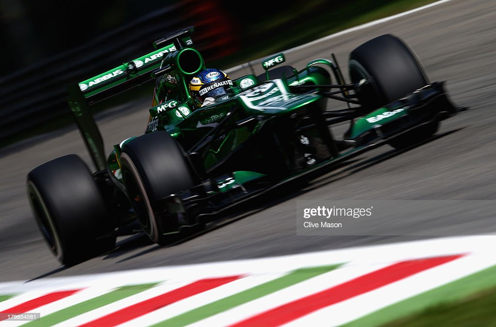 Charles Pic of France and Caterham drives during qualifying for the Italian Formula One Grand Prix at Autodromo di Monza on September 7 2013 in Monza...