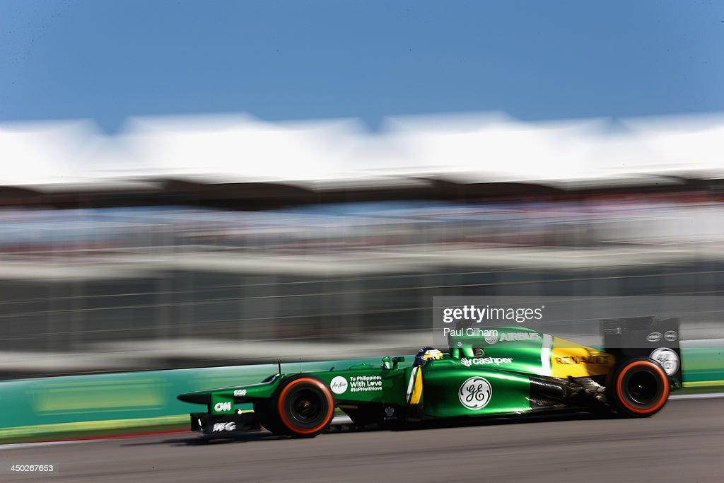 Charles Pic of France and Caterham drives during the United States Formula One Grand Prix at Circuit of The Americas on November 17 2013 in Austin...