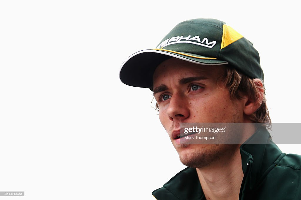 Charles Pic of France and Caterham is seen following practice for the Brazilian Formula One Grand Prix at Autodromo Jose Carlos Pace on November 22...