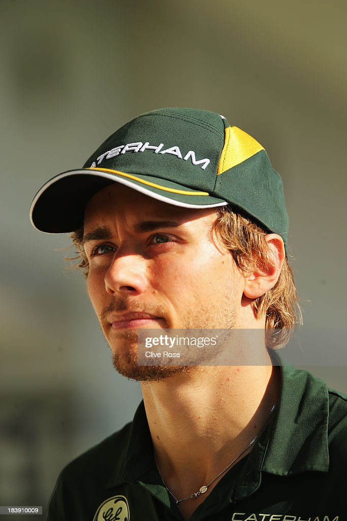 Charles Pic of France and Caterham walks in the paddock during previews for the Japanese Formula One Grand Prix at Suzuka Circuit on October 10 2013...