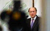 Charles Plosser Federal Reserve Bank of Philadelphia president fields questions from the media while addressing the Main Line Chamber of Commerce's...