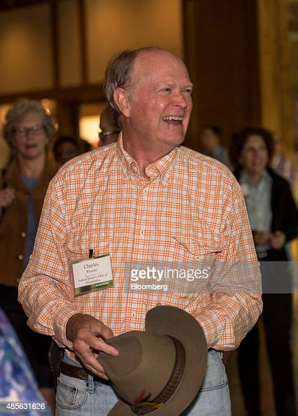 Charles Plosser former president of the Federal Reserve Bank of Philadelphia arrives for dinner during the Jackson Hole economic symposium sponsored...