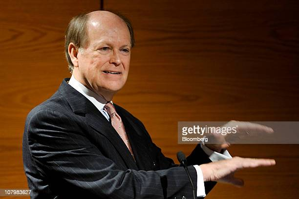 Charles Plosser president and chief executive officer of the Federal Reserve Bank of Philadelphia speaks during an address to the Risk Management...