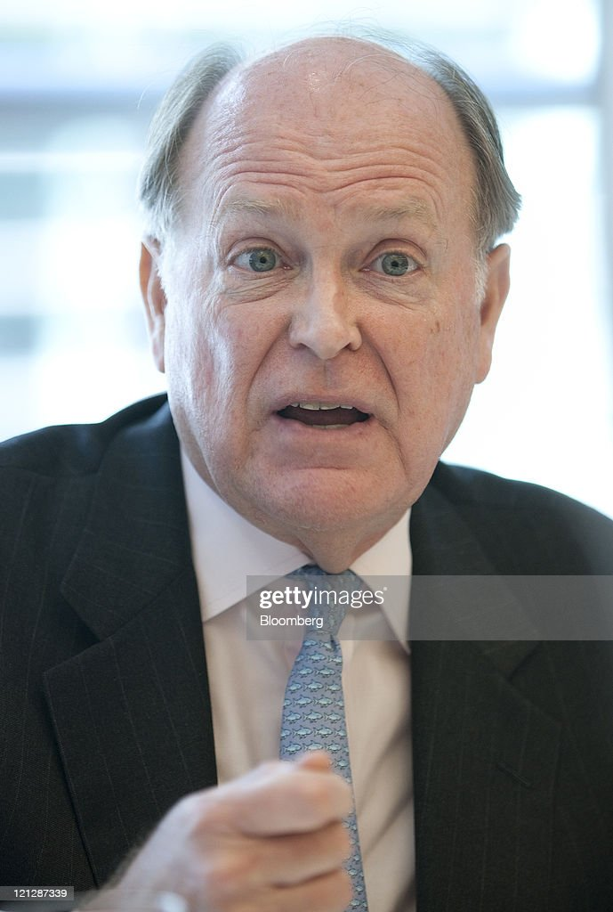 Charles Plosser, president and chief executive officer of the Federal Reserve Bank of Philadelphia, speaks during an interview in New York, U.S., on Wednesday, Aug. 17, 2011. Plosser told Bloomberg via Getty Images Radio today that policy makers should have waited to see how the economy performed before pledging on Aug. 9 to hold rates at record lows for two years. Photographer: Scott Eells/Bloomberg via Getty Images