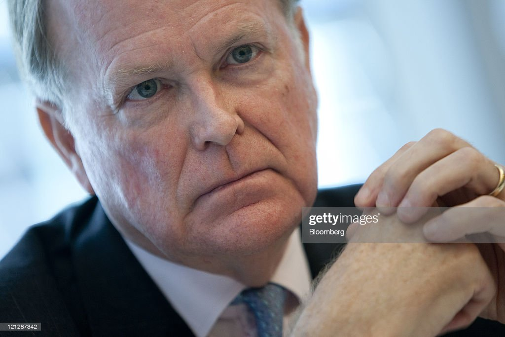Charles Plosser, president and chief executive officer of the Federal Reserve Bank of Philadelphia, pauses during an interview in New York, U.S., on Wednesday, Aug. 17, 2011. Plosser told Bloomberg via Getty Images Radio today that policy makers should have waited to see how the economy performed before pledging on Aug. 9 to hold rates at record lows for two years. Photographer: Scott Eells/Bloomberg via Getty Images