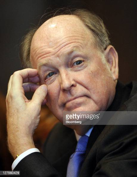 Charles Plosser president and chief executive officer of the Federal Reserve Bank of Philadelphia listens to a question during an event at the...