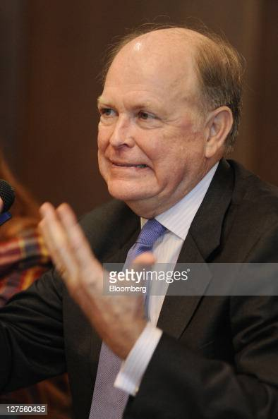 Charles Plosser president and chief executive officer of the Federal Reserve Bank of Philadelphia speaks at the Villanova School of Business in...