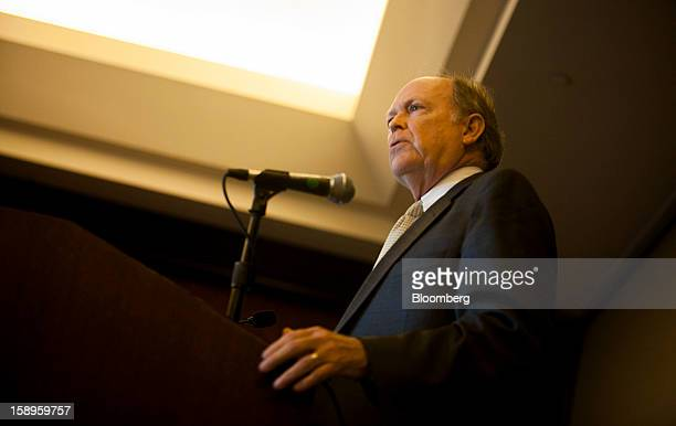 Charles Plosser president of the Federal Reserve Bank of Philadelphia speaks at the American Economic Association's annual meeting in San Diego...