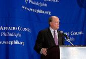 Charles Plosser president of the Federal Reserve Bank of Philadelphia speaks to the World Affairs Council of Philadelphia in Philadelphia...
