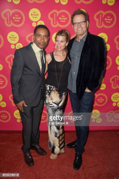 Charles RandolphWright Beth Toussaint and Jack Coleman attend the Opening Night of 'Born For This' at The Broad Stage on July 20 2017 in Santa Monica...