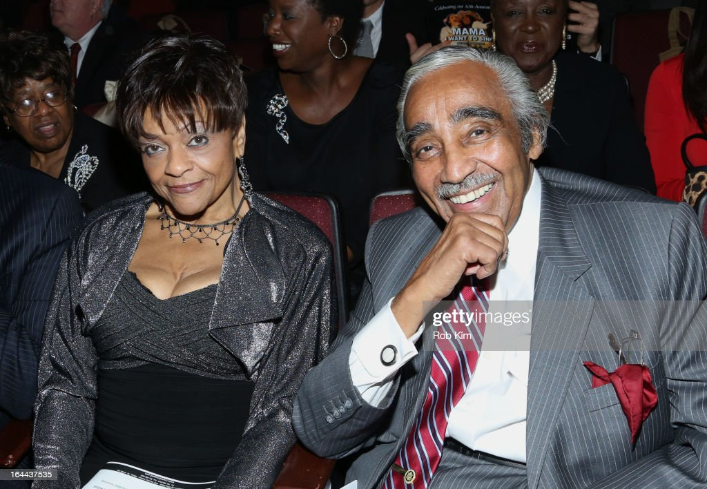 <a gi-track='captionPersonalityLinkClicked' href=/galleries/search?phrase=Charles+Rangel&family=editorial&specificpeople=213581 ng-click='$event.stopPropagation()'>Charles Rangel</a> (R) and Inez Dickens attend 'Mama I Want To Sing' 30th Anniversary Gala Celebration at The Dempsey Theatre on March 23, 2013 in New York City.