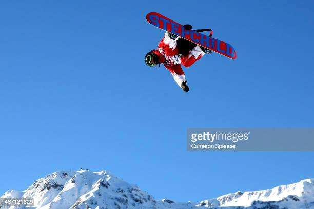 Charles Reid of Canada competes in the Men's Slopestyle Qualification during the Sochi 2014 Winter Olympics at Rosa Khutor Extreme Park on February 6...