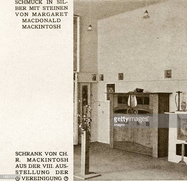 Charles Rennie Mackintosh and Margaret Macdonald Mackintosh They designed room X of the 8th exhibition of the Secession Reproduction from 'Ver...