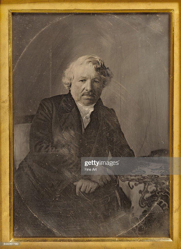 Charles Richard Meade Portrait of LouisJacquesMandé Daguerre handcolored daguerreotype 1/2 plate 157 x 115 cm The J Paul Getty Museum Los Angeles