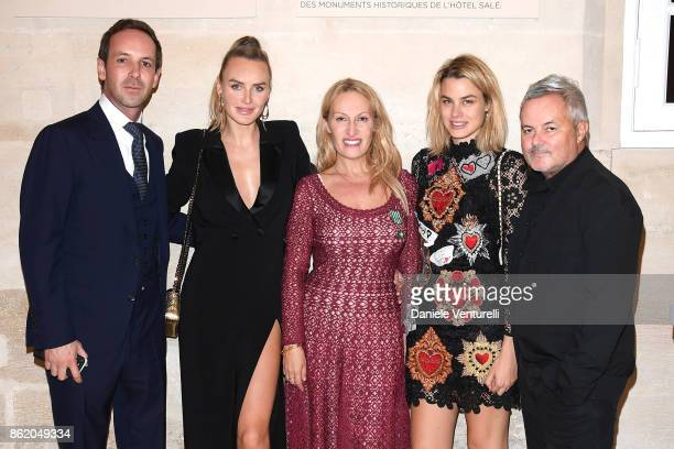 Charles Riva Masha Hanson Isabelle GMURZYNSKA and Nellee HOOPER attend a cocktail in honour of Diana Widmaier Picasso and Alexander SC Rower awarded...