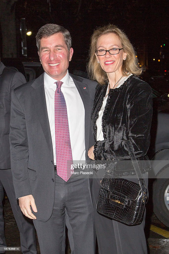 <a gi-track='captionPersonalityLinkClicked' href=/galleries/search?phrase=Charles+Rivkin&family=editorial&specificpeople=4891546 ng-click='$event.stopPropagation()'>Charles Rivkin</a> and Susan Tolson attend the 'Esprit Dior, Miss Dior' exhibition opening at Grand Palais on November 12, 2013 in Paris, France.