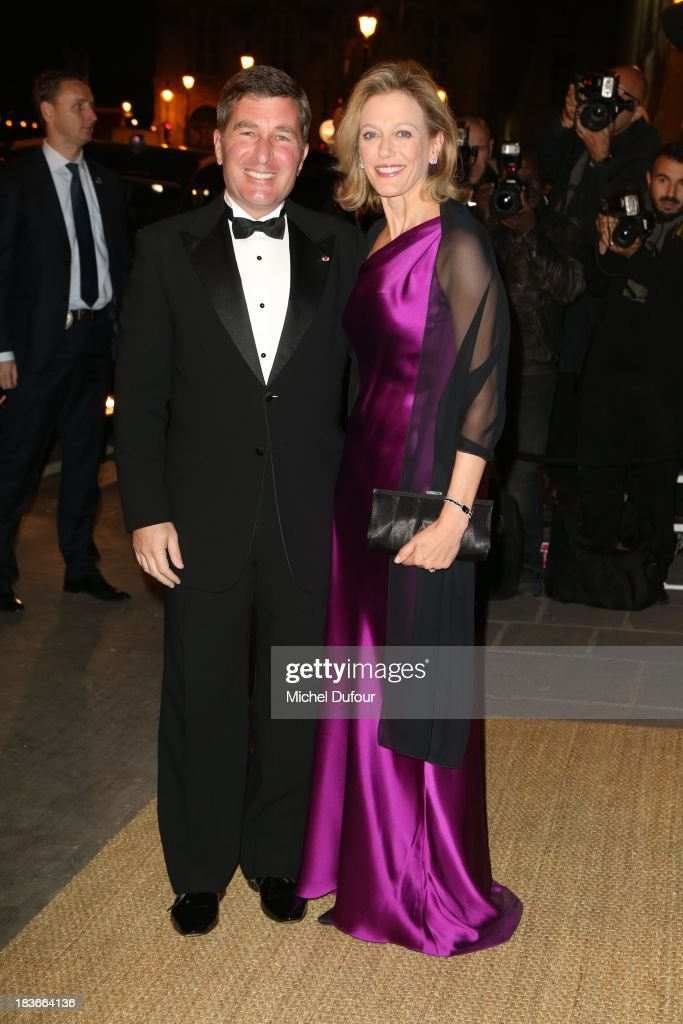 <a gi-track='captionPersonalityLinkClicked' href=/galleries/search?phrase=Charles+Rivkin&family=editorial&specificpeople=4891546 ng-click='$event.stopPropagation()'>Charles Rivkin</a> and Suzan Tolson arrive at a Ralph Lauren Collection Show and private dinner at Les Beaux-Arts de Paris on October 9, 2013 in Paris, France. On this occasion Ralph Lauren celebrates the restoration project and patron sponsorship of L'Ecole des Beaux-Arts.
