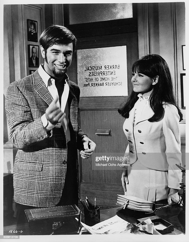 Charles Robinson and Shelley Fabares discover they hit the big time in a scene from the movie 'A Time to Sing' circa 1968