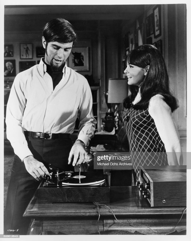 Charles Robinson and Shelley Fabares discover they made it big in a scene from the movie 'A Time to Sing' circa 1968