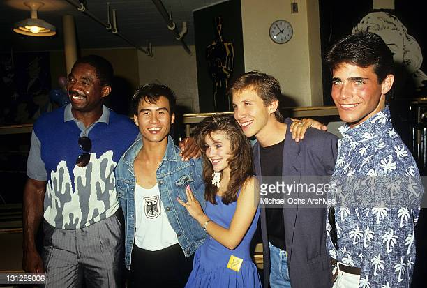 Charles Robinson BD Wong Alyssa Milano Rob Stone and Brian Bloom are part of the allstar cast from television movie 'Crash Course' 1988