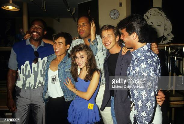 Charles Robinson BD Wong unidentified man Alyssa Milano Rob Stone and Brian Bloom are part of the allstar cast from the television movie 'Crash...