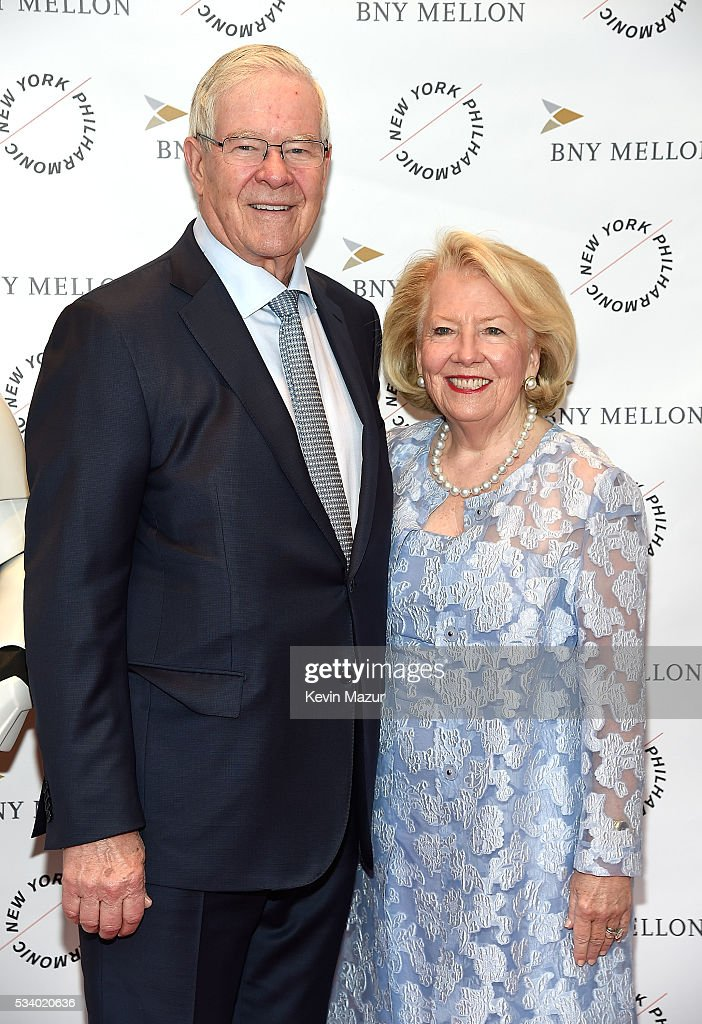 Charles Schaefer and Carol Schaefer attend New York Philharmonic's Spring Gala, A John Williams Celebration at David Geffen Hall on May 24, 2016 in New York City.