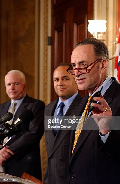 Charles Schumer DNY John McCain RAZ and the FCC Chairman Michael K Powell will do a press conference on the last minute push by cell phone companys...