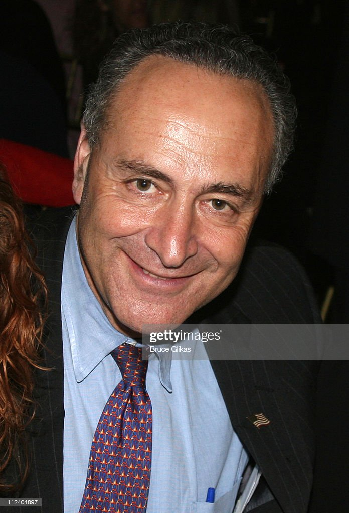 <a gi-track='captionPersonalityLinkClicked' href=/galleries/search?phrase=Charles+Schumer&family=editorial&specificpeople=171249 ng-click='$event.stopPropagation()'>Charles Schumer</a> during 'Rent' Celebrates 10th Anniversary on Broadway - April 24, 2006 at The Nederlander Theater in New York, New York, United States.