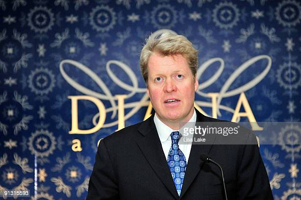 Charles Spencer Princess Diana's brother attends a reception to celebrate 'Diana A Celebration' exhibit at the National Constitution Center on...