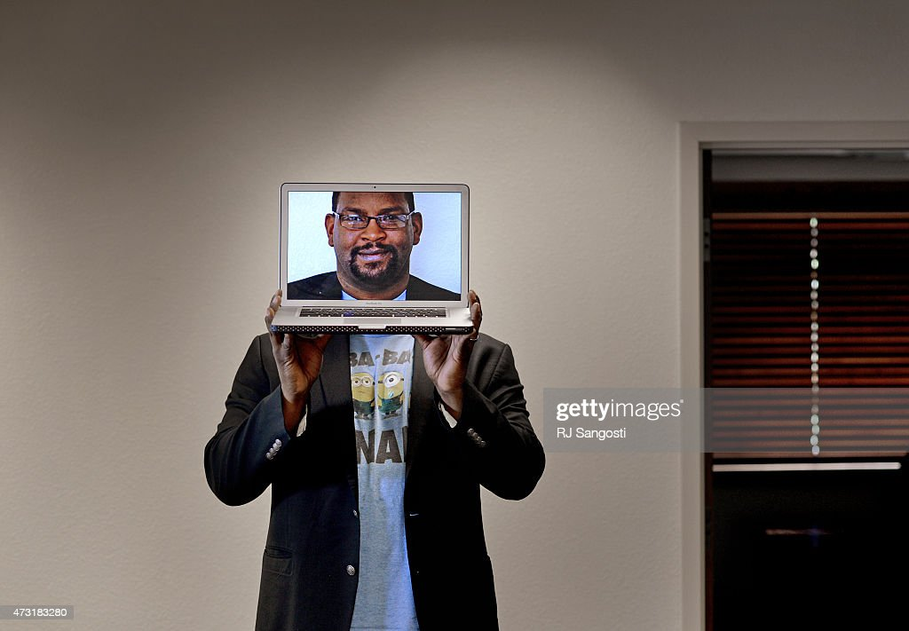 Charles Tendell, a Colorado-based cyber security expert, is taking responsibility for controversial web site Hacker's List, May 13, 2015. Tendell stand for a portrait at his office in El Paso County.